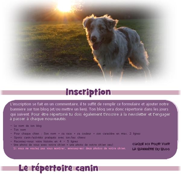 Le répertoire : Liste & inscription