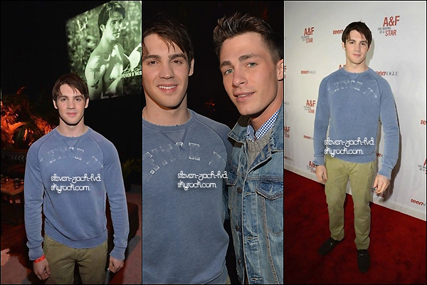 ★Steven au buddy up at Abercrombie & Fitch's The Making of a Star Spring 2014 Campaign Party