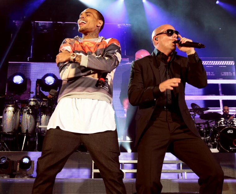 Performance de Chris avec Pitbull ce mardi soir au Hollywood Bowl