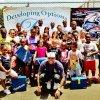 Photos : Chris au lycée de Crenshaw pour une ½uvre de bienfaisance