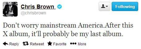 Pensez-vous que Chris Brown va réellement arrêter sa carrière après ce tweet ?