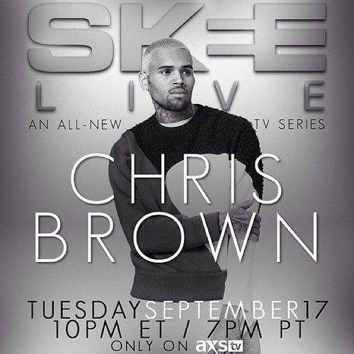 Interview et performance de Chris ce soir sur AXS TV