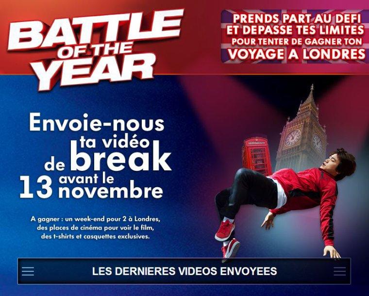 """Jeu concours : Gagne ton week-end pour deux à Londres avec """"Battle of the year"""""""