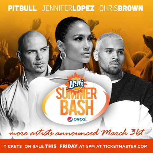 "Chris au ""B96 Pepsi Summer Bash"" le 14 Juin"