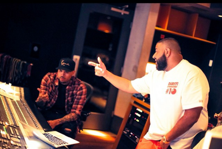 Chris et DJ Khaled en studio