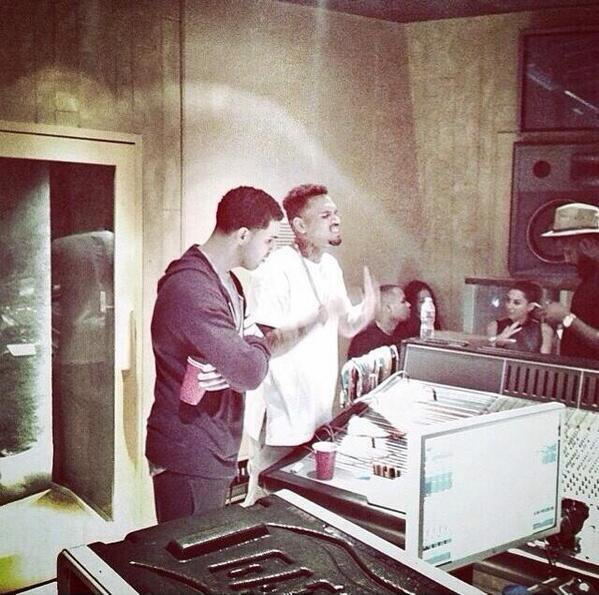 Chris Brown et Drake en studio