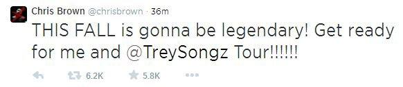 Chris annonce une tournée avec Trey Songz