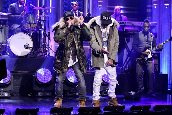 "Chris Brown & Tyga au ""Tonight Show"""