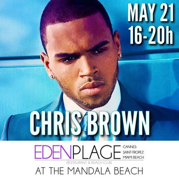 Chris Brown de passage en France