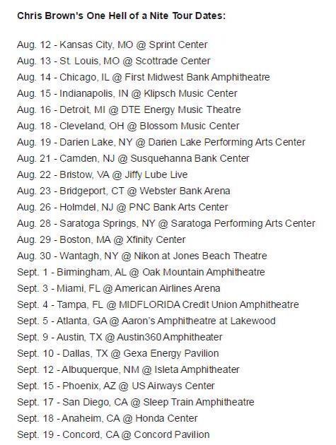 Nouvelle tournée aux Etats-Unis pour Chris avec Omarion, Kid Ink, Fetty Wap et Teyana Taylor
