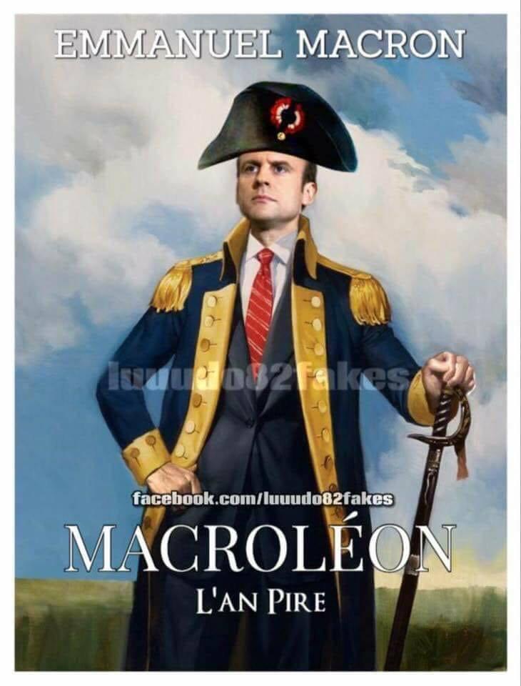 Marcon....aucune prestance, aucune compétence pour diriger un pays, imbu de sa personne.....bref un minable arriviste, un jeune con !!! je le déteste il me sort par le trou du c.l . Honte a la France d avoir un tel Président.