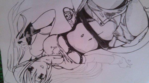 Mon dessin quand je m'ennuie ^^