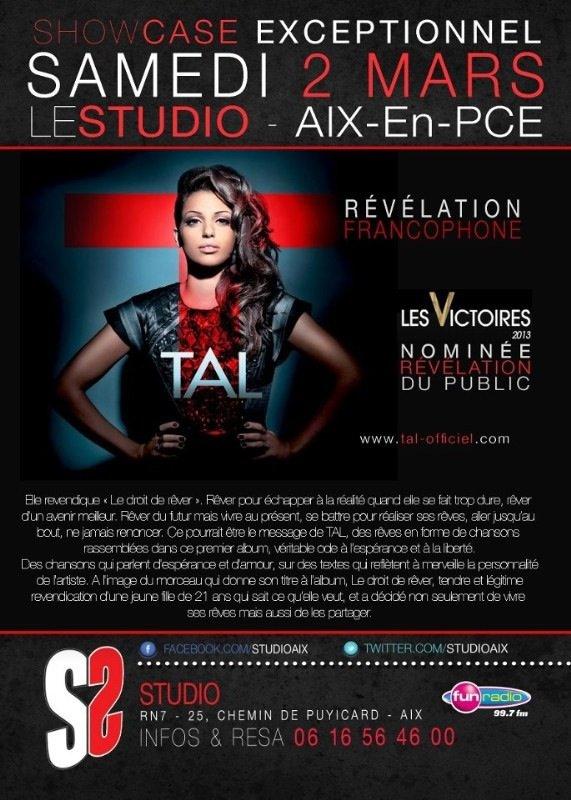 TAL fera un showcase à Aix-En-PCE.