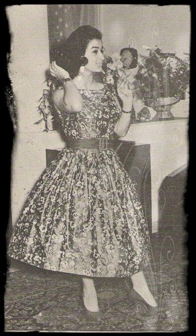 وردة خلال إقامتها في لبنان في الخمسينات