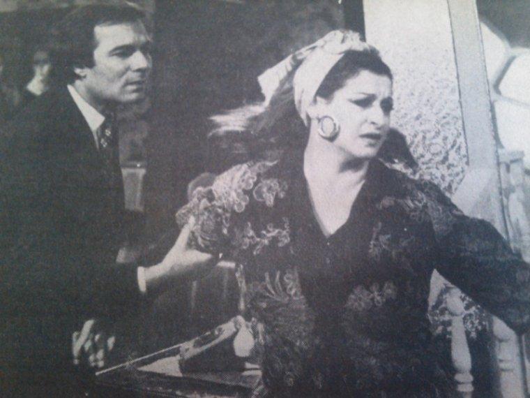وردة ومحمود يس - لقطة من فيلم قضية حب