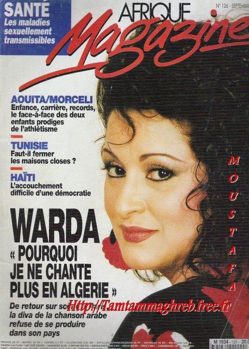 """WaRda  """" Afrique Magazine """"  وردة"""