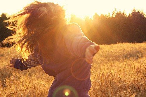 feelings happiness sunshine freedom girl happy