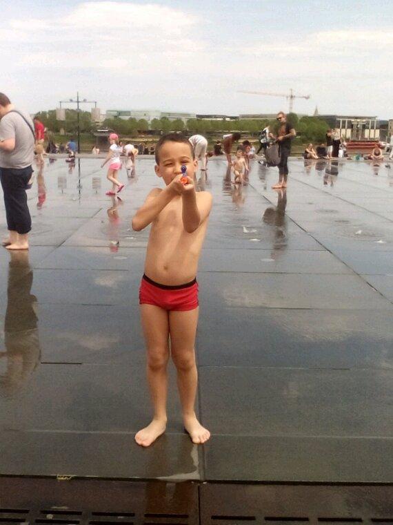 Mon fils au miroir d eaux