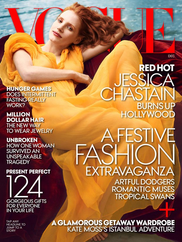 JESSICA CHASTAIN POUR VOGUE