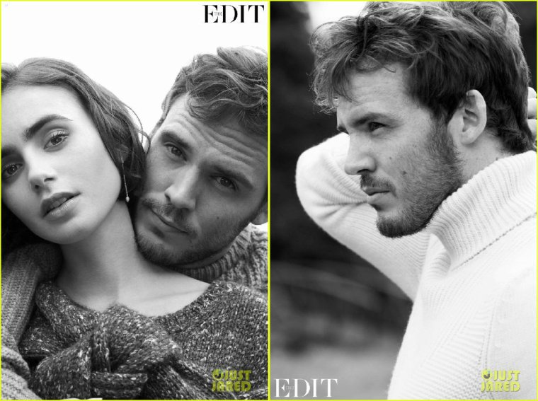 LILY COLLINS & SAM CLAFLIN POUR THE EDIT MAGAZINE