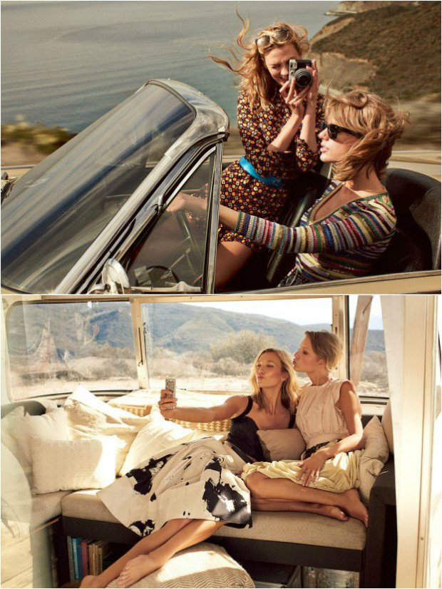 TAYLOR SWIFT & KARLIE KLOSS POUR VOGUE MAGAZINE