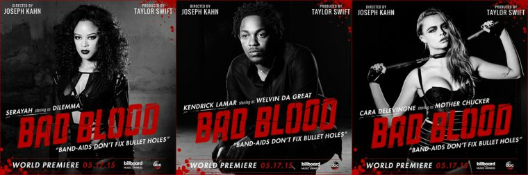 TAYLOR SWIFT - LES POSTERS DE BAD BLOOD !