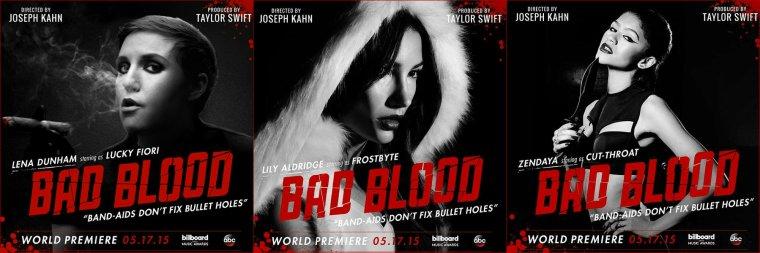 TAYLOR SWIFT - LES POSTERS DE BAD BLOOD !