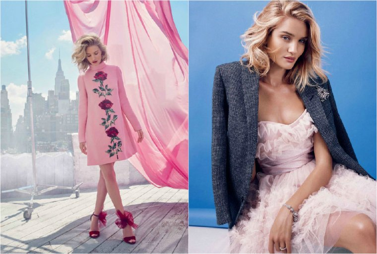ROSIE HUNTINGTON-WHITELEY POUR HARPER'S BAZAAR MAGAZINE