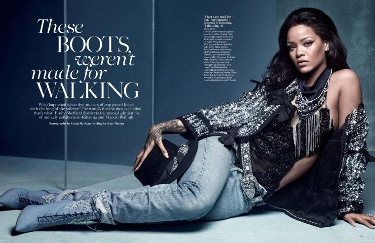 RIHANNA POUR VOGUE UK 2016
