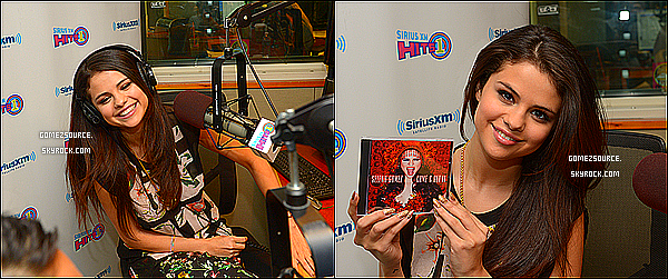 ". 23/04/2013 : Selena se rendant au ""Elvis Durna Z100 Morning Show"" a New-York. ."