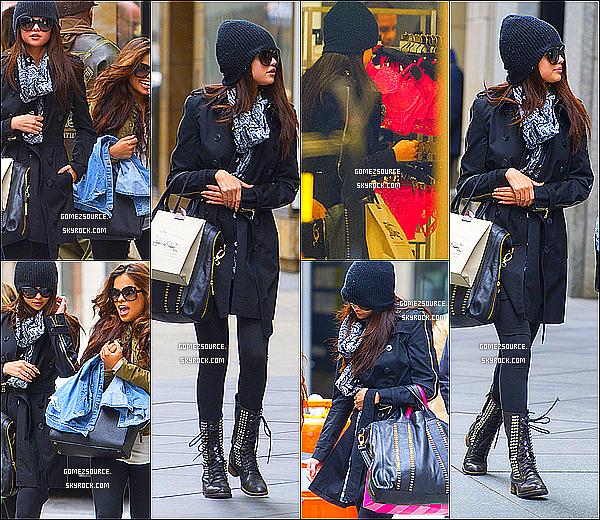 . 22/04/2013 : Selena & Justin Bieber quittant leur hôtel à StockHolm. Puis,le lendemain Miss Selena est allée faire un peu de Shopping dans New-York.  .