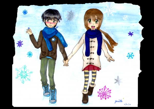 ❊ Deux p'tits sous la neige ❊