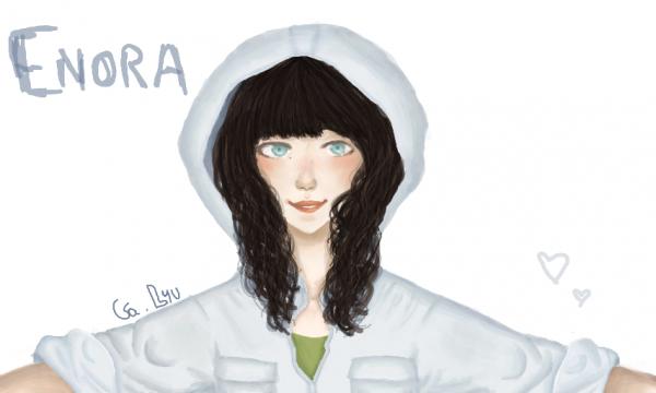 Premier dessin colorié d'Enora !
