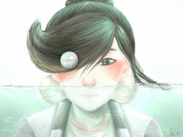 Ying underwater