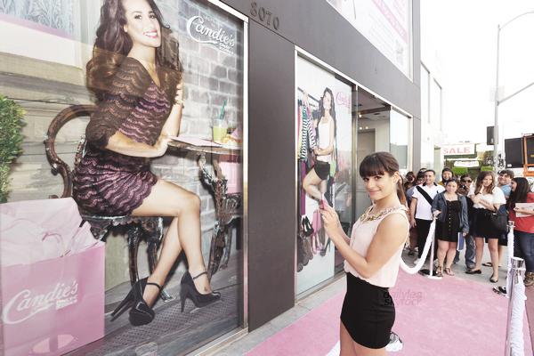 PUBLIC APPEARANCE // 13 octobre 2012 Lea s'est rendue au Candie's Virtual Pop-Up Shop, qui se trouve à Los Angeles.