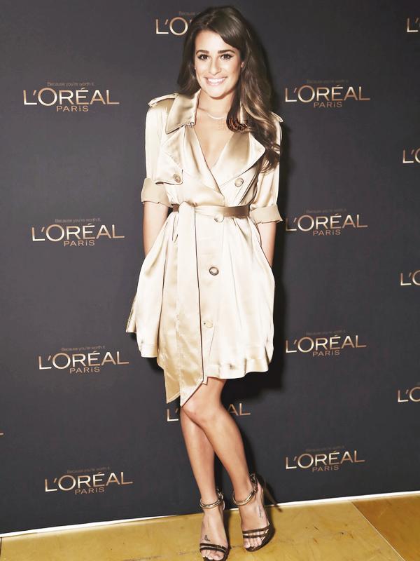 PUBLIC APPEARANCE // 2 septembre 2012 Lea a été photographiée en pleine préparation pour L'Oreal Paris Spokeswoman Introduction, puis elle s'y est rendue.