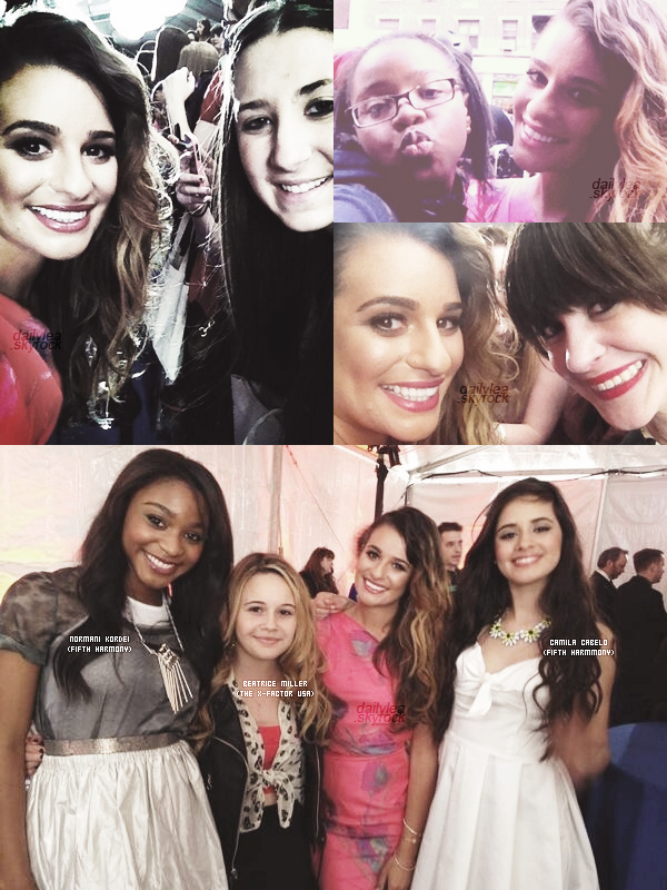 PUBLIC APPEARANCE // 13 mai 2013 Découvrez des photos de Lea avec des fans lors du 2013 FOX Upfront !Vous pouvez voir parmi les fans, Normani Kordei et Camila Cabelo du groupe Fifth Harmonymais également Beatrice Miller, participante à la deuxième saison de The X-Factor USA !