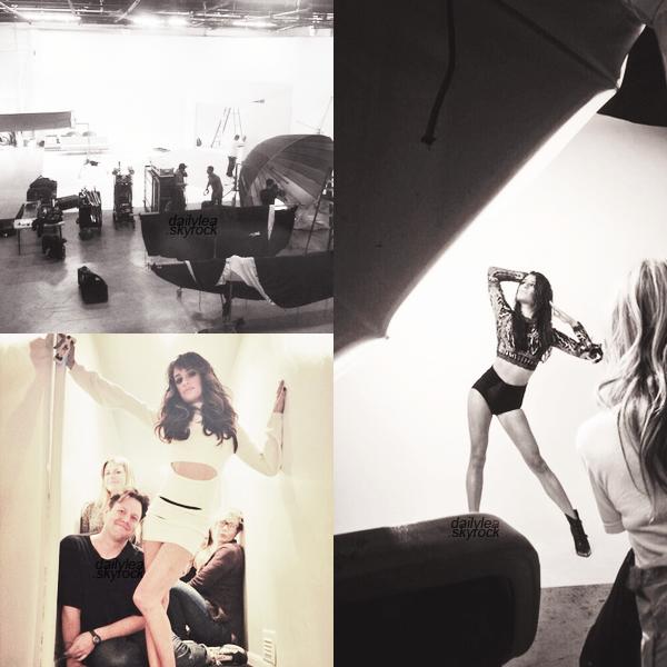 PERSONNAL PICTURES//Twitter Grande nouvelle ! Lea a tweeté qu'elle a eu une séance photo avec Peggy Sirota pour son premier album solo ! Découvrez des photos personnelles prises durant le shoot.