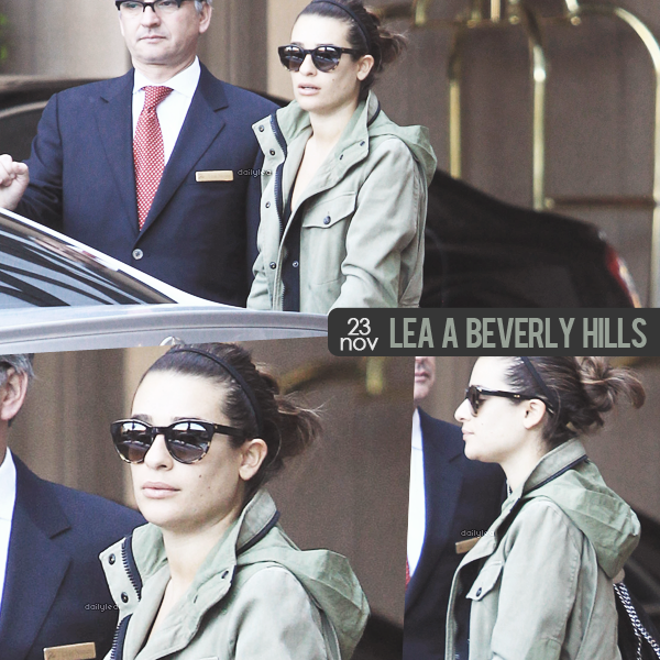 OUT & ABOUT // 23 novembre 2013 Lea a été vue à Beverly Hills.