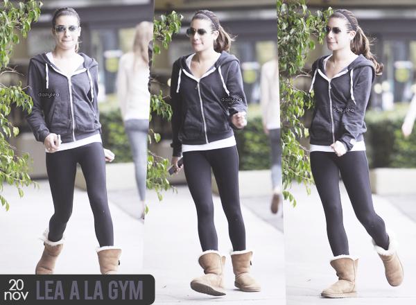 OUT & ABOUT // 20 novembre 2013 Lea a été vue se rendant à la gym.