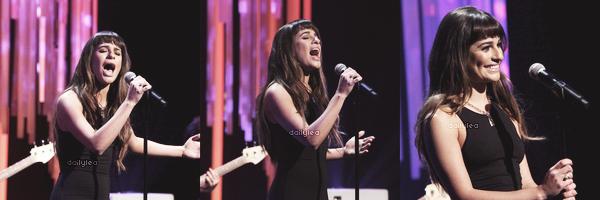 PUBLIC APPEARANCE // 12 décembre 2013 Lea s'est rendue au Ellen Degeneres Show où elle à performé Cannonball pour la première fois !