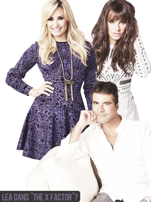 """DIVERS // Lea dans The X Factor ? Lea Michele remplacera t-elle Demi Lovato dans l'émission X Factor ? Effectivement Lea voulant aller de l'avant et relever de nouveaux défis se serait confiée au sujet de The X Factor, de Simon Cowell et de la chaine FOX sur l'antenne d'Extra TV : """"Je pourrais le menacer parce que je suis vraiment fan. Il est génial ! Fox est ma famille. C'est ma maison. Si The X Factor veut m'avoir, je suis disponible"""". De plus, une place de jurée sera bientôt disponible étant donné que Demi Lovato va prochainement quitter l'émission pour se consacrer à sa carrière musicale !"""