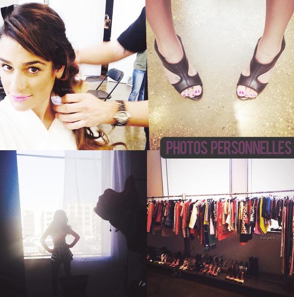 PERSONNAL PICTURES // Instagram Voici de nouvelles photos personnelles de Lea postées sur Instagram. Lea était sur le set d'un shoot pour le magazine Seventeen !
