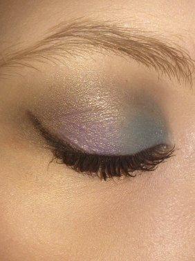 Makeup Coloré Bleu Canard + Violet + Marron+ Noir