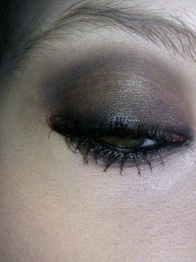 Mon Makeup pour Noyêl : )  Smocky Marron Noir et Or