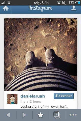 Bidon de daniela ruah poster sur son instagram