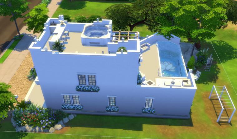 Ma derniere maison blog les sims 4 de pimousse for Maison sims 4 piscine