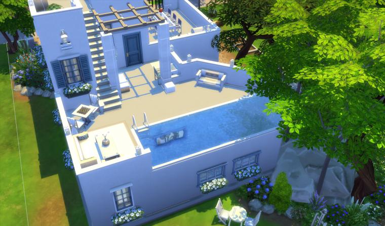 Articles de lydiebruno tagg s maison grecque blog les for Maison sims 4 piscine