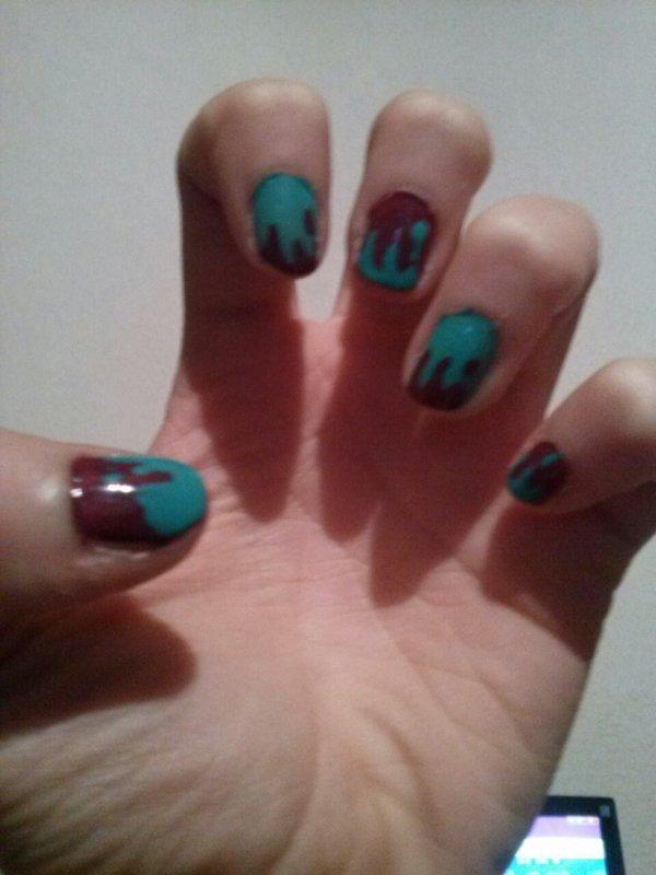 Nail art degoulinant