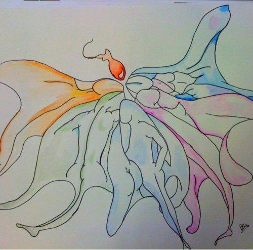 Enfin des crayons aquarellable !! Et ça donne ça à l'essai !
